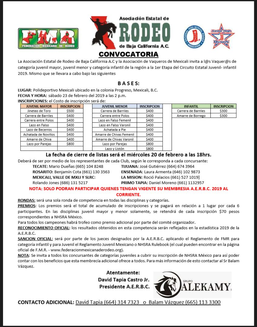 Rodeo Juv- Inf 2019